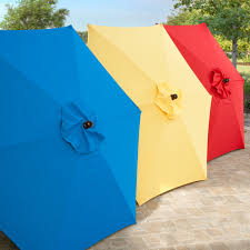 8 Foot Patio Umbrella by Coral Coast Key Largo 7 5 Ft Spun Poly Wood Market Umbrella