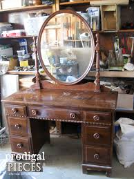 vintage vanity with french country cottage style prodigal pieces
