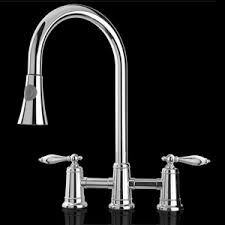 Two Handle Pull Down Kitchen Faucet Bridge Kitchen Faucet With Pull Down Spray Thesouvlakihouse Com