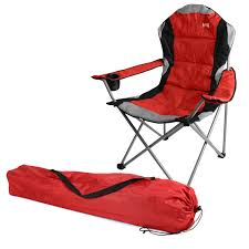 Collapsible Camping Chair Kestrel Deluxe Padded Folding Chair Folding Camping Chairs For
