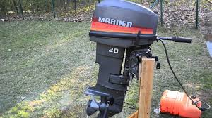 1989 mecury mariner 20hp outboard boat motor youtube