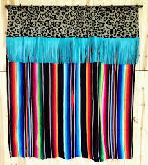 Turquoise Shower Curtains Black Serape Shower Curtain Dirt Revivals