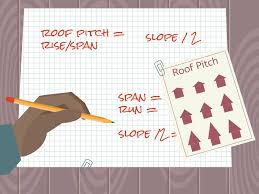 Calculate Shingles Needed For Hip Roof by 3 Ways To Calculate Roof Pitch Wikihow