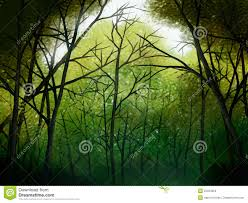 deep forest digital painting stock illustration image 22223324