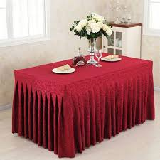party table covers 1pcs 4 ft fitted tablecloth party table cover wedding banquet