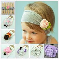 cloth headbands fashion baby flower elastic band headband eco friendly