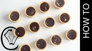 mini chocolate caramel tarts with gold accents by cupcake savvy u0027s