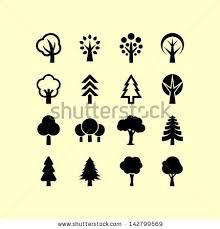 tree symbols stock vector 142799569