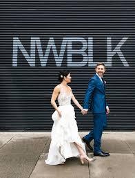 san francisco wedding dresses modern minimalism architecture inspired this creative wedding in