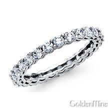 white gold eternity ring 2 7mm cubic zirconia eternity ring wedding band in 14k white