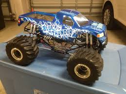 remote control monster jam trucks new blue thunder 2013 archive radio control monster truck network