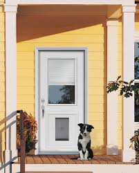 French Security Doors Exterior by Custom Doors With Doggie Door Jeld Wen Steel And Fiberglass
