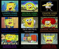 Spongebob Meme Face - spongebob squarepants alignment chart by jayzeetee16 on deviantart