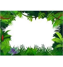 free printable clip art borders jungle frame vector 506296