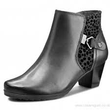 womens ankle boots size 9 uk excellent shoes caprice womens black combi print ankle