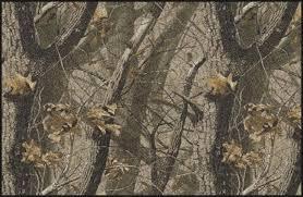 realtree trees leaves camouflage nylon area rug