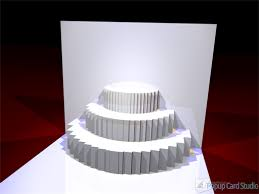learn to make a 3 tiered cake popup card u2014 make the cut forum