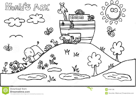 noah ark coloring page noahs ark royalty free stock image image 9781136