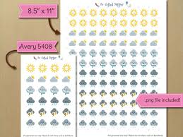weather icon sticker set printable tracking weather and