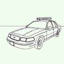 picture of police car coloring page picture of police car