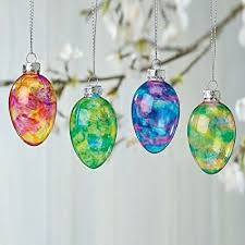 glass easter egg ornaments stained glass easter egg ornaments set of 12 3 of