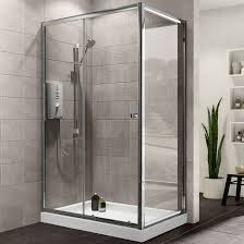 plumbsure rectangular shower enclosure with single sliding door w