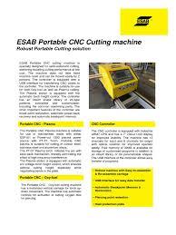 product leaflet portable cnc cutting machine numerical control