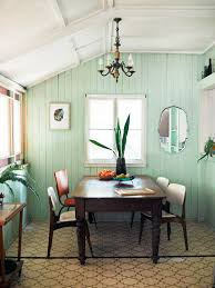 great way to give old wood paneled walls a modern country update