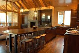 Oak Kitchen Island With Seating Kitchen Island Table With Stools Or Island With Their Design Wood
