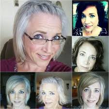 grey hair in 40 s image result for going gray before and after pictures beauty