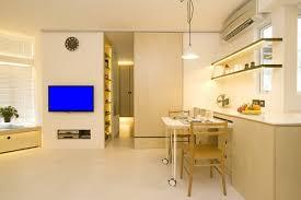 apartments small corridor soft hidden lights flexible dining
