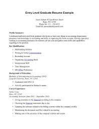 resume samples for entry level jobs