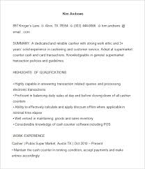 Grocery Store Cashier Job Description For Resume by 15 Cashier Resume Templates Free Word Pdf