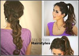 2 cute hairstyles hair tutorial for medium long hair