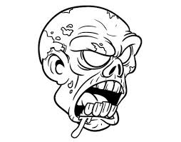 colored page zombie head painted cema 501259 coloring pages for