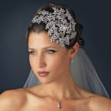 bridal headpiece vintage couture side accented bridal headband headpiece