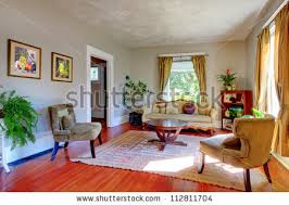 Curtains For Grey Walls Living Room Yellow Curtains Grey Walls Stock Photo 112811704