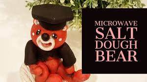 Salt Dough Halloween Crafts Microwave Salt Dough Bear Figurine Youtube