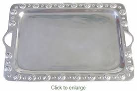 pewter serving platter border mexican pewter serving tray with handles