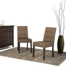 Dining Chair Outlet Darden Tufted Bonded Leather Dining Chair Set Of 2 By