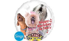 singing birthday balloons happy birthday dog balloon singing party city