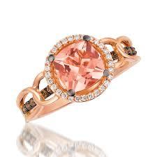 levian engagement rings le vian morganite 14k gold gemstone and diamond