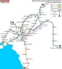 Metro Line Map by Subways Transport