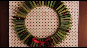 diy christmas wreath clothes pin card holder youtube