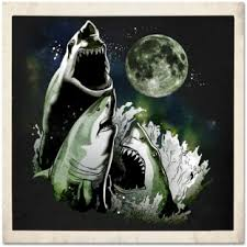 3 Wolf Moon Meme - 3 shark moon t shirt shark collection pinterest shark and moon