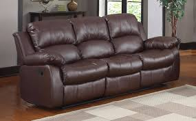 classic 3 seat bonded leather double recliner sofa walmart com