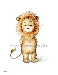 lion print anna abramskaya pencil and watercolor drawing of lion nursery