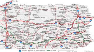 cities map map of pennsylvania cities pennsylvania road map
