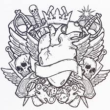 free coloring page and superb tattoo design coloring pages