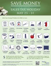 what can you buy during the hurricane sales tax fairfax